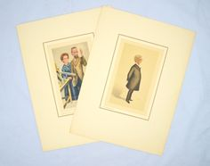 Choice of Vintage Print by Petrolagar Laboratories, Pierre and Marie Curie or Oliver Wendell Holmes, 1930s Scientist Caricature by UpswingVintage on Etsy