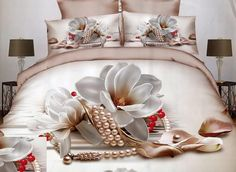 Cheap home textile, Buy Quality print bedding set directly from China bedding set Suppliers: Home Textiles,Eternal Lily Style Print Bedding Sets Queen Size Duvet Cover Bed Sheet Pillowcase Bedspreads Bed Cover Sets, Bed Sets, Bed Sheet Sets, Bed Covers, King Size Bed Linen, King Size Duvet Covers, Bed Linen Sets, 3d Bedding Sets, Queen Bedding Sets