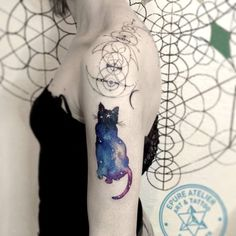 black cosmic cat More
