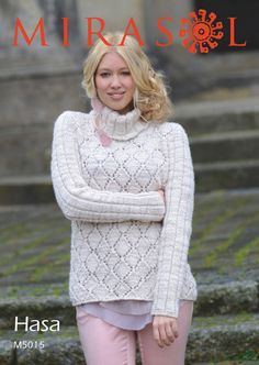 --Turtleneck Lace Sweater (and Hooded Scarf)