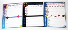 Keep the kids on track and organized with our custom #HOMEWORK & SCHEDULE PADS.