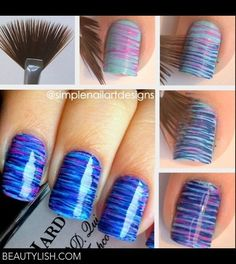 Ombré striping using fan brush   SnorgaDoon a.'s Photo   Beautylish