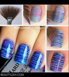 Ombré striping using fan brush | SnorgaDoon a.'s Photo | Beautylish