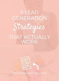If we're talking about lead generation strategies or marketing in general we can't ignore one simple thing. And that simple thing is...