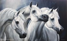 Pale Beauty Oil Painting on Canvas - 20x32 in - 50x80 cm Description: Three…