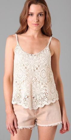 crochet top. mom can totally make this