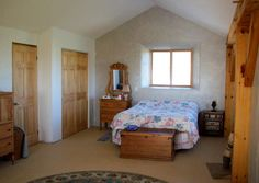 2nd floor strawbale bedroom