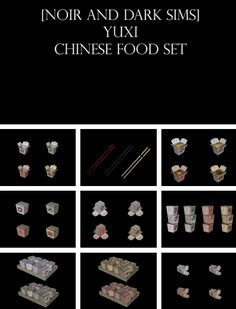 Chinese Food Set Conversion by Noir and Dark Sims - Sims 3 Downloads CC Caboodle