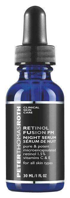 Das Professional Strength 3% Retinol Plus von Peter Thomas Roth ist eine leichtes Anti-Aging-Serum für die Nacht zur Behandlung des Gesichts, um sichtbare Linien und Fältchen zu vermindern. Während der Nacht dringt das hochwirksame Retinol in die Haut ein und minimiert die Größe, Länge und Tiefe der Falten und Linien. Sogar der Hautton und die Hautstruktur werden verbessert. Die Anti-Aging-Behandlung enthält zudem Koffein, wodurch das Retinol noch besser in die Hautoberfläche eindringen…
