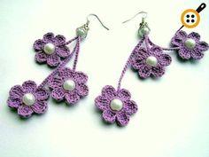 Knitting Earrings Models - 67 Must Knit Earrings - Mesh earring patterns - Bracelet Crochet, Crochet Earrings Pattern, Bead Crochet, Crochet Designs, Crochet Patterns, Diy Bracelets Patterns, Textile Jewelry, Crochet Jewellery, Diy Schmuck