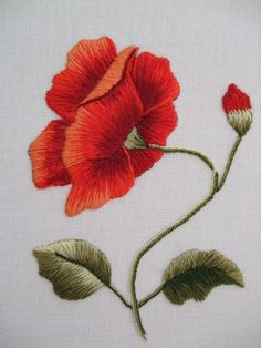 crewel embroidery stitch beautiful shading