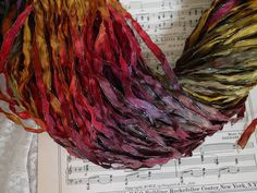 Almost GONE  Hand Dyed ribbon  AUTUMNS ARRIVAL by abbyandellie, $3.95