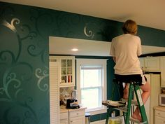 this is really cool, you get the same color of paint with gloss,and high gloss. you are then able to make designs on your wall and they will show!