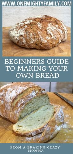 Wondering how to get started with making bread - This is the beginners guide on how to make bread at home. how to make sweet bread from scratch or how to make bread at home without oven. We will try and answer all of your questions here. Even same day sourdough bread recipe and no yeast no knead bread recipe. #bread #breadfromscratch #homemadebread #beginnersguidetobread #onemightyfamily
