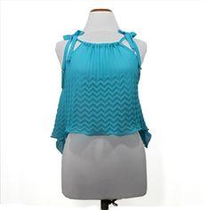 Scuba pleated tank top in crepe georgette, special pattern, italian fashion by SaltieCreations on Etsy