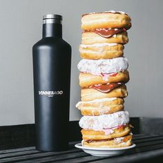 When your eyes are as big as your Vinnebago. #NationalDonutDay #Corkcicle #allthedonuts #foodiegram