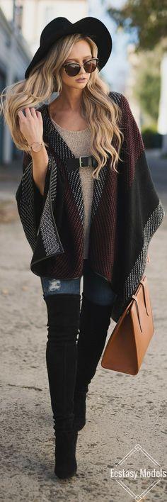 Oversized Buckle Poncho // Fashion Look by Stephanie Danielle