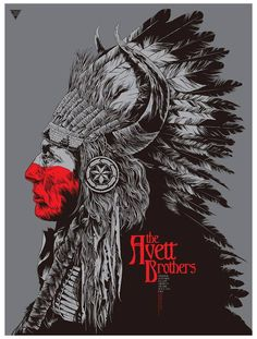The Avett Brothers #gigposter by Ken Taylor.