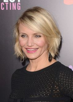Hairstyle for Women Over 40 - Cameron Diaz Short Bob Hairstyle for 2014
