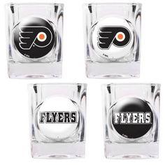 Ensemble de 4 verres à shooter des Flyers de Philadelphie! Autres modèles également offerts.