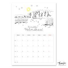 Ilmainen tulostettava helmikuun 2016 seinäkalenteri #ilmainen #tulostettava #kalenteri #2016 #helmikuu#free #print #calendar #February http://virtasia.blogspot.fi/2016/01/helmikuun-2016-tulostettava.html