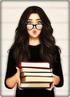 Girl Wallpaper - My Walpaper Girly M, Beautiful Girl Drawing, Cute Girl Drawing, Girl Drawing Sketches, Girly Drawings, Girl Sketch, Cartoon Drawings Of Girls, Drawing Faces, Sketch Art