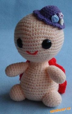 Želva. Crochet Turtle, Crochet Toys, Giraffe, Hello Kitty, Character, Bears, Crochet Stuffed Animals, Felt Giraffe, Giraffes