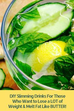 DIY Slimming Drinks For Those Who Want to Lose a LOT of Weight & Melt Fat Like BUTTER!