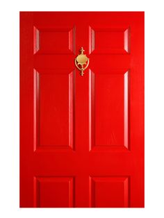 Painted Door The color of your door is thought to determine good luck. According to feng shui, south-facing doors should be painted red or orange, north-facing doors should be blue or black, west-facing doors are best with gray or white, and east-facing doors will be lucky with brown or green.
