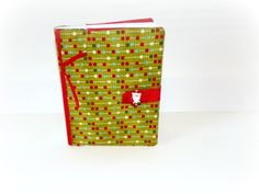 Christmas Fabric Notebook Cover with Fabric from The Ribbon Retreat!