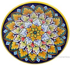 ceramic-majolica-plate-g06-pink-blue-orange-739-  sc 1 st  Pinterest & Blue Mexican Majolica Ceramic Rooster Decorative Plate | Mexicans