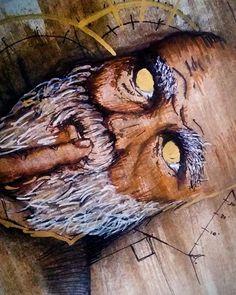 Experimenting with something different. Gold leaf details #artofinstagram #instaart #instaartist #drawing #draw #drawsomething #sketchbook #sketchaday #art #artwork #sketch #penandink #pen #staedtler #ink #artist #artoftheday #coloredpens #pastel #pastels #watercolor #goldleaf #vintage #portrait #oldman #goldenyears #instaartpics #artist_4_shoutout