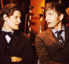 Matt and David  Doctor Who 50th Anniversary Special (gif)
