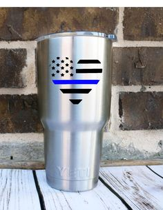 A personal favorite from my Etsy shop https://www.etsy.com/listing/451785204/back-the-blue-police-lives-matter-decal