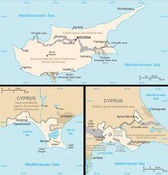 Map of Akrotiri Western Sovereign Base Area BFPO 57 Akrotiri