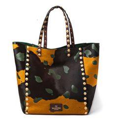 Primavera Estate 2014 Tote camouflage Valentino - #camouflage #valentino #bag #studs