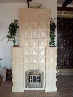 Soba de teracota alba stil semineu, pe 9 randuri Decor, Stove, Arad, Hearth, Furniture, Home Decor, Fireplace, Deco