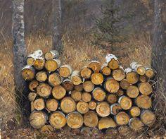 Jeffrey T. Larson - Fine Artist -    - Jeff Larson    wood pile