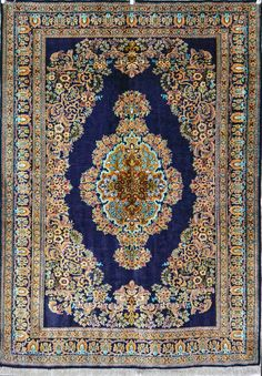 QUM Persian Carpet Silk Persian Rug   Exclusive collection of rugs and tableau rugs - Treasure Gallery You pay: $1,800.00 Retail Price: $4,000.00 You Save: 55% ($2,200.00) Item#: 2025 Category: Small(3x5-5x8) Persian Rugs Design: Medallion Kaf Sadeh Size: 111 x 159 (cm) 3' 7 x 5' 2 (ft) Origin: Persian Foundation: Silk Material: Silk Weave: 100% Hand Woven Age: Vintage KPSI: 600