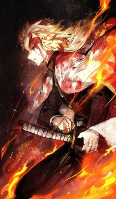 Rengoku Kyoujurou / Anime - Kimetsu no Yaiba Demon Manga, Art Anime, Anime Kunst, Chica Anime Manga, Otaku Anime, Kawaii Anime, Manga Girl, Anime Girls, Demon Slayer