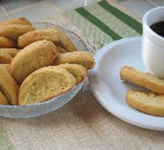 Paximathakia Portokaliou: Orange Sesame Biscotti: Orange Sesame Biscotti: Perfect for dunking!