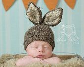 Knit Baby Bunny Hat, Hand Knit Infant/ Newborn Photo Prop, Easter Rabbit, U Choose Color, Chunky, All Sizes Avail, Great Spring Gift. $24.99, via Etsy.