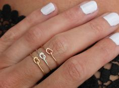 Promise ring, knot ring - infinity ring, Gold ring - Rose gold ring -  silver ring, stacking ring