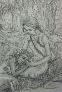 Rue and Katniss :'( Burdge