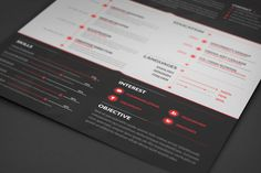 Clean and Elegant Resume (DOWNLOAD) by Jay Key, via Behance