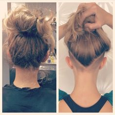 This is why I want an undercut. I have a million little baby hairs & broken strands just like the photo on the left. They never grow out & I'm just so frustrated with them I want to shave it off.