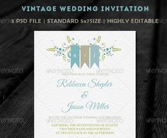 45 Beautiful Wedding Invitation PSD Templates – shop and