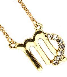 Joji Boutique - bejeweled golden Virgo necklace, $16.00 (http://www.jojiboutique.com/products/bejeweled-golden-virgo-necklace.html)