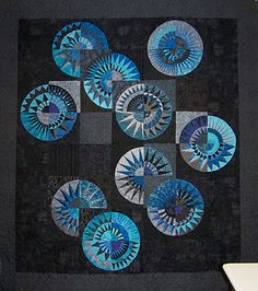 New York Beauty quilt from a design by Chris Jurd (Australia), seen at Patchwork Fun