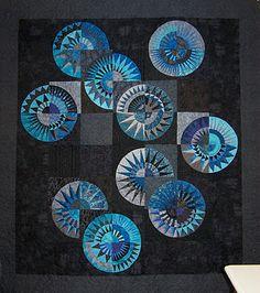 New York Beauty quilt from a design by Chris Jurd (Australia), seen at Patchwork Fun